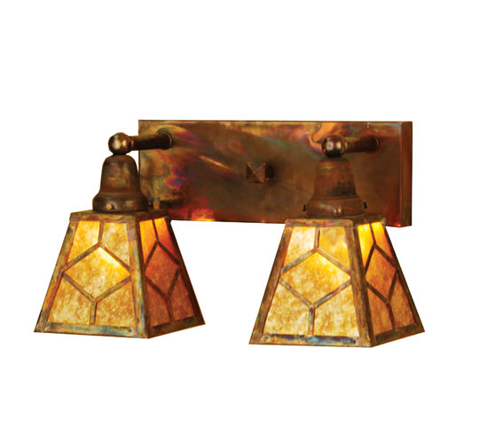 Meyda 102168  Rustic - Country Two Light Wall Sconce
