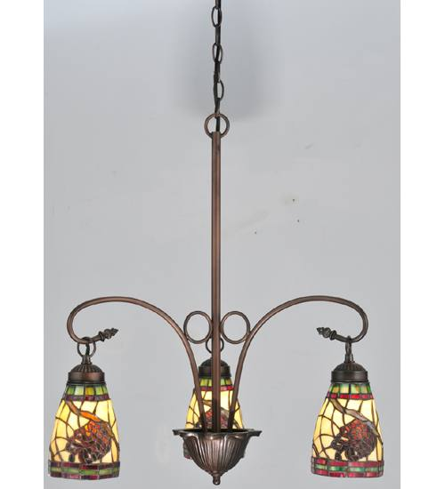 Meyda 106292 Pinecone Dome 3 Light Chandelier