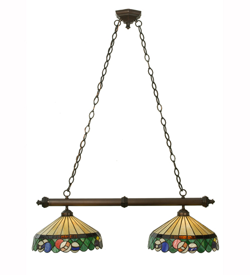 Meyda 50675 Green Billiard 2 Light Island Pendant