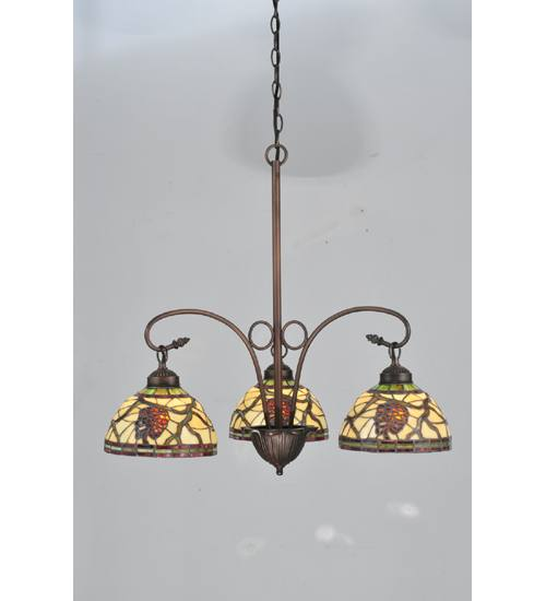 Meyda 106291 Pinecone Dome 3 Light Chandelier