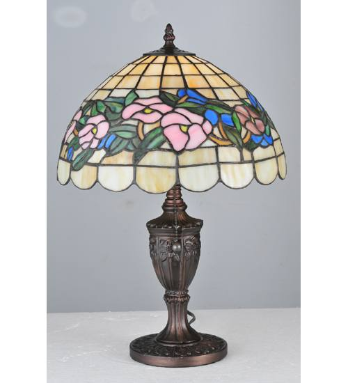 "Meyda 106542 19"" H x 13"" W Tiffany Pansy Accent Lamp"