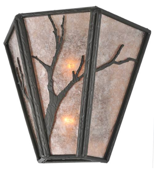 """Meyda 99385 14""""W Rustic Branches Wall Sconce"""