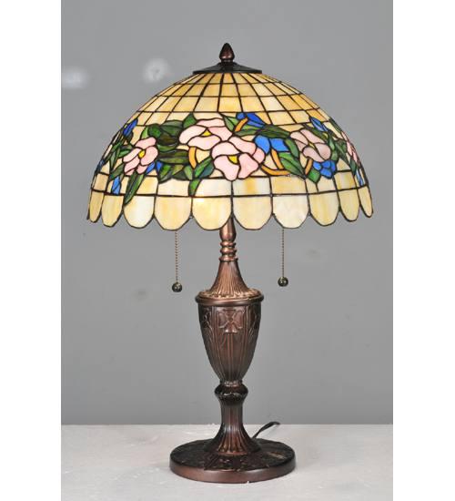 "Meyda 106541 24"" H Pansy Table Lamp"