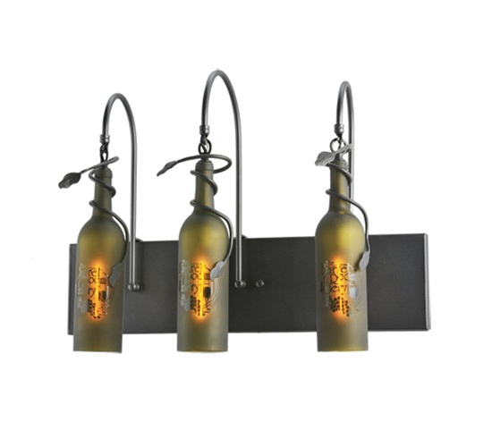 Meyda 99825 Wine Bottle 3 Light Wall Sconce