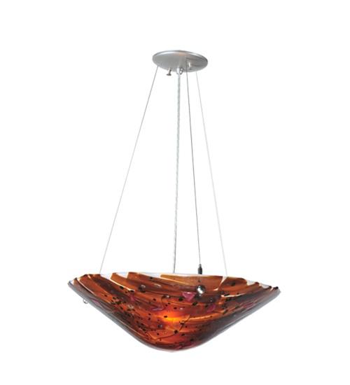 Meyda 99643 Torta Fused Glass Inverted Pendant Fixture