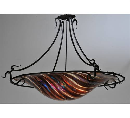 Meyda 106152 Marina Fused Glass Semi-Flush Pendant Light Fixture