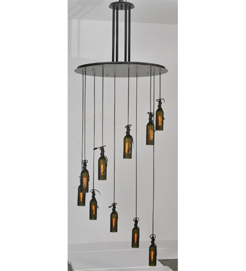 Meyda 99822 Wine Bottle 10 Light Semi-Flush Pendant Fixture