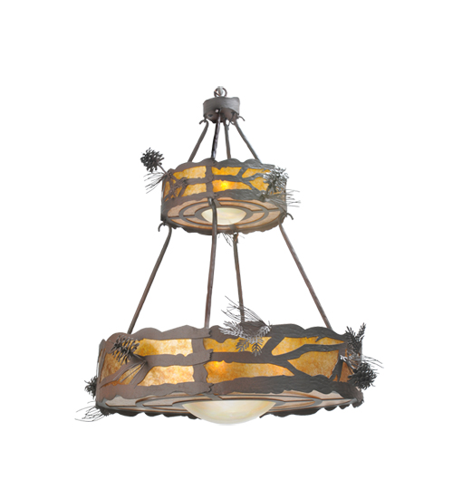 Meyda 98873 Pinecone 2 Tier 7 Light Chandelier