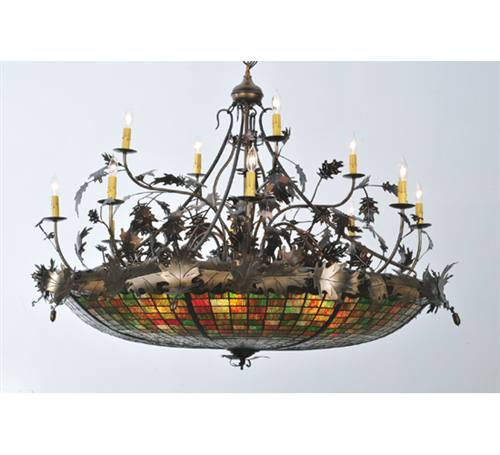 Meyda 100424 Acorn And Oak Leaf 12 Plus 6 Light Chandelier