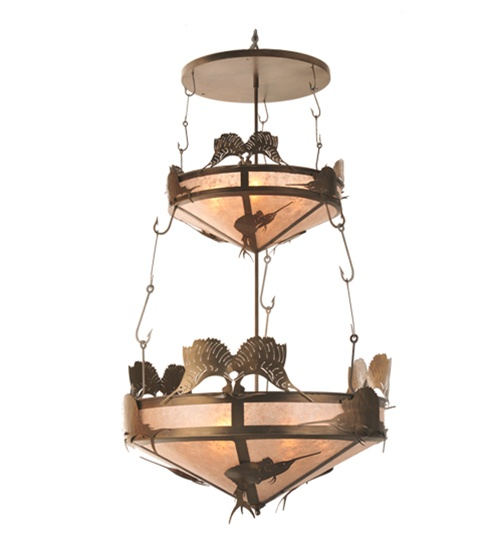 Meyda 99648 Sailfish 10 Light 2 Tier Pendant Fixture
