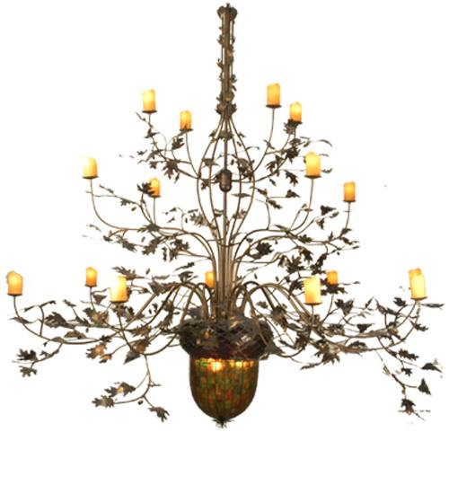 Meyda 69366 Acorn And Oak Leaf 16 Arm Chandelier