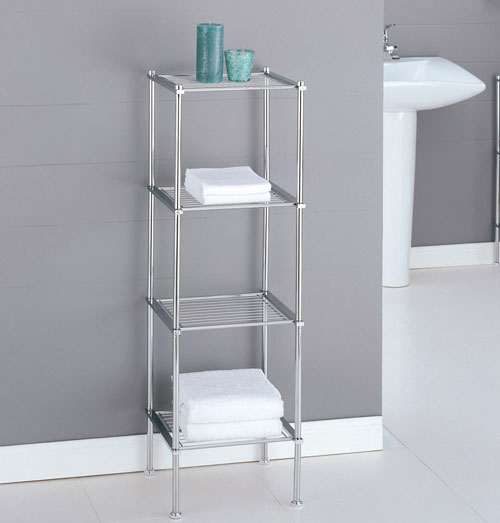 Organize It All 16984 4 Tier Shelf - Chrome