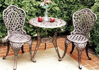Oakland Living 2005-AB Mississippi 3 pc Bistro Set - Antique Bronze