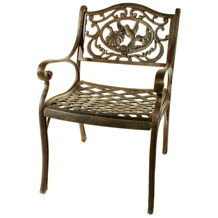 Oakland Living 3312AB  Hummingbird Dining Chair  Antique Bronze