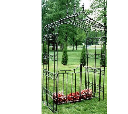 Oakland Living 5127-HB Gothic Arbor With Gate And Base - Hammertone Bronze Arbor, Arch, Garden Arbor, Garden Arch, Arbors, Archway, Arches, Garden Structures, Pergola, Lattice