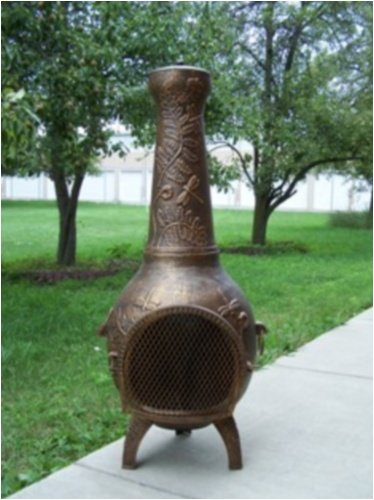 Oakland Living 8017-AB Dragonfly Chimenea With Grill - Antique Bronze
