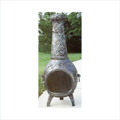 Oakland Living 8018-AP Hummingbird Chimenea With Grill - Antique Pewter