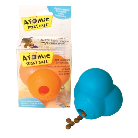 Our Pets 2130010795 Atomic Dog Treat Ball - 3 Inch