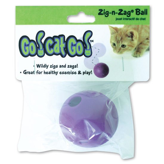 Our Pets 1080010280 Go Cat Go Zig-N-Zag Ball
