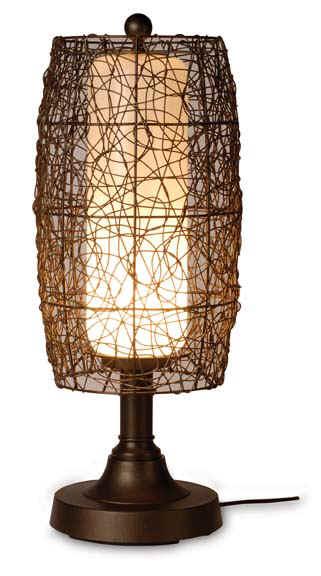 Patio Living 68287 Bronze Table Lamp - Walnut shade