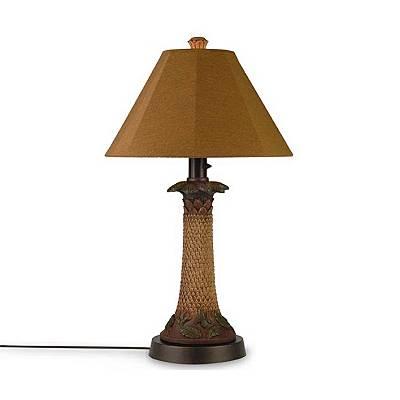 Patio Living 36957 Bark 35 Inch Table Lamp