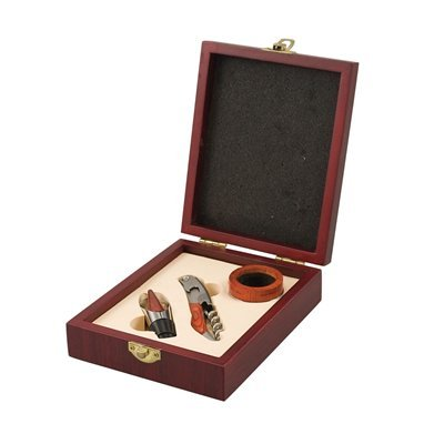 Picnic Time 880-00-504 Chianti Three Piece Set Wine Accessory Box