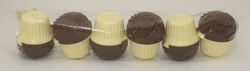 RangeKleen STG32BC Chocolate Cup Case Cupcake Holder- 6 Units Per Poly