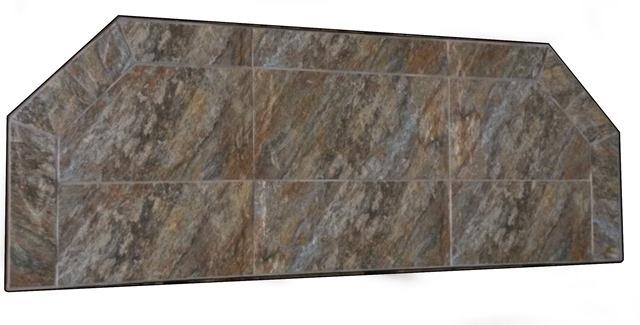 Kalvin International SP9-3617 12 x 48 Inch Hearth Extension - Powder Coated Steel Edge