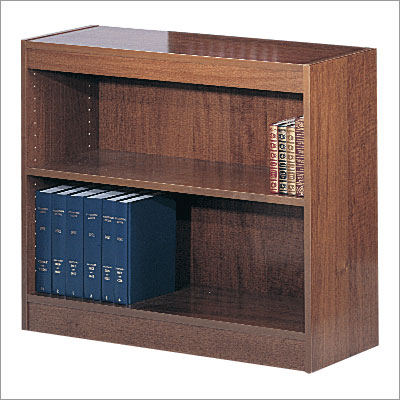 Safco 1501CYC WorkSpace Square Edge 2 Shelf Bookcase in Cherry