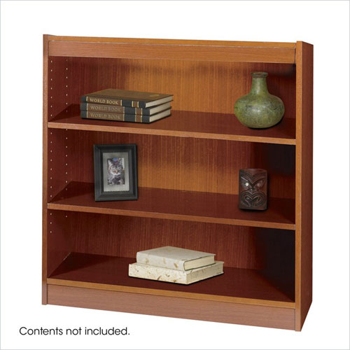 Safco 1502CYC WorkSpace Square Edge 3 Shelf Bookcase in Cherry