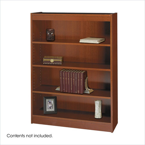 Safco 1503CYC WorkSpace Square Edge 4 Shelf Bookcase in Cherry