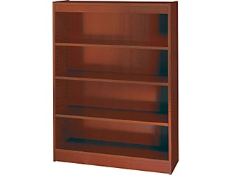 Safco 1503MHC WorkSpace Square Edge 4 Shelf Bookcase in Mahogany