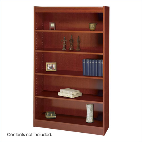 Safco 1504CYC WorkSpace Square Edge 5 Shelf Bookcase in Cherry