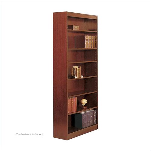 Safco 1506CYC WorkSpace Square Edge 7 Shelf Bookcase in Cherry