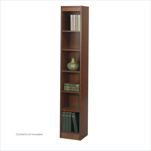 Safco 1511CYC WorkSpace 6 Shelf 12 x 72 Inch Baby Bookcase in Cherry