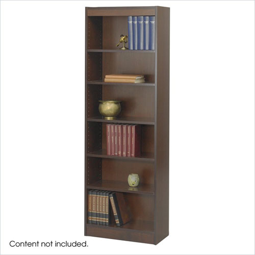 Safco 1512WLC WorkSpace 6-Shelf Baby Bookcase - 24 x 72 Inch - Walnut