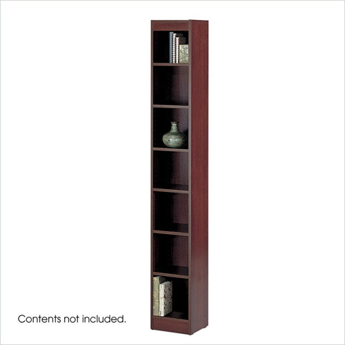 Safco 1514MHC WorkSpace 7-Shelf Baby Bookcase - 12 x 84 Inch - Mahogany