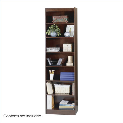 Safco 1515MHC WorkSpace 7-Shelf Baby Bookcase - 24 x 84 Inch - Mahogany