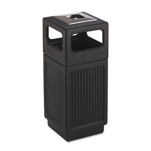 Safco 9474BL Canmeleon Collection 15 Gallon Side Open Receptacle in Black