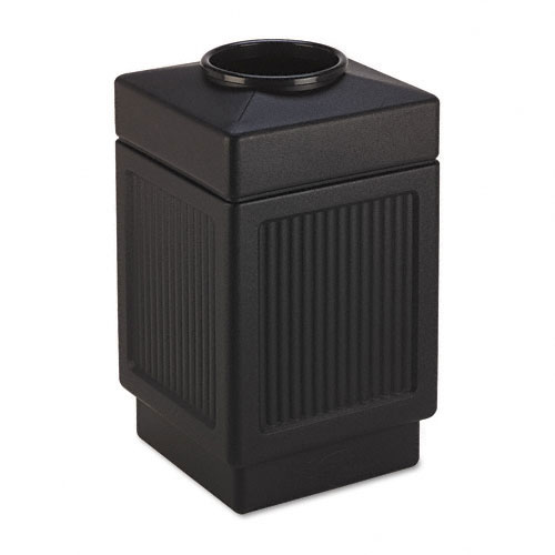 Safco 9475BL Canmeleon Collection 38 Gallon Top Open Receptacle in Black