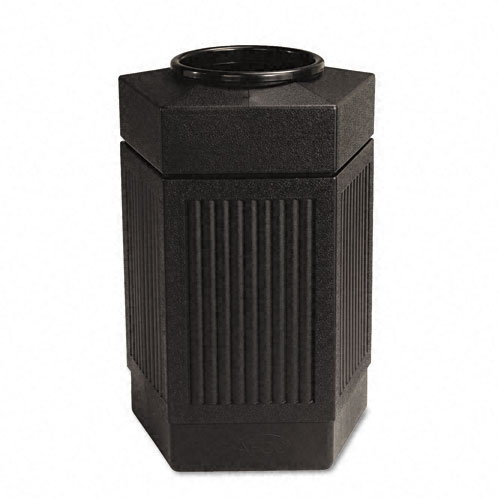 Safco 9485BL Canmeleon Collection 30 Gallon Pentagon Receptacle in Black