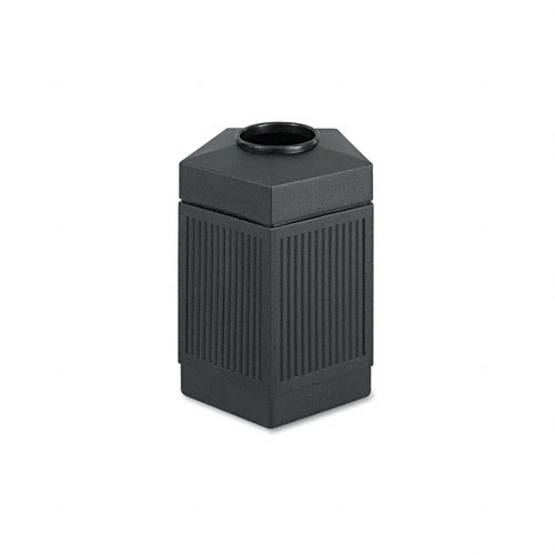 Safco 9486BL Canmeleon Collection 45 Gallon Pentagon in Black