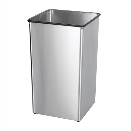 Safco 9663SS Stainless Steel 36 Gallon Receptacle Base