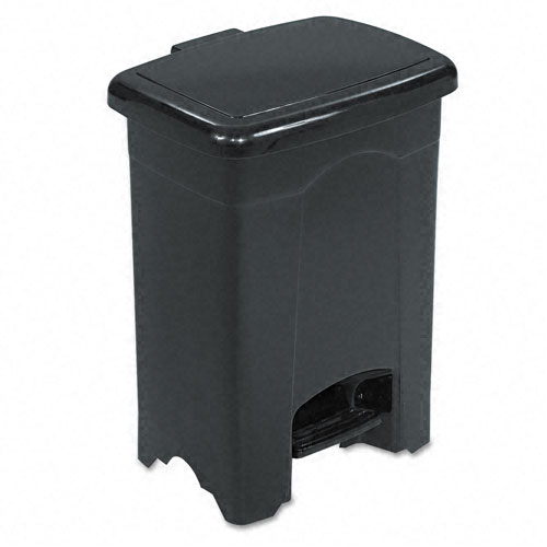 Safco 9710BL 4 Gallon  Plastic Step-on Waste Receptacle in Black