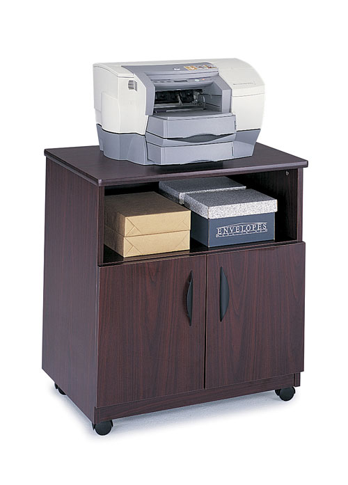 Safco 1850MH Mobile Machine Stand in Mahogany