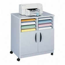Safco 1851GR Mobile Machine Stand with Sorter in Gray