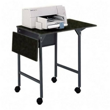 Safco 1876BL Machine Stand with Drop Leaves in Black