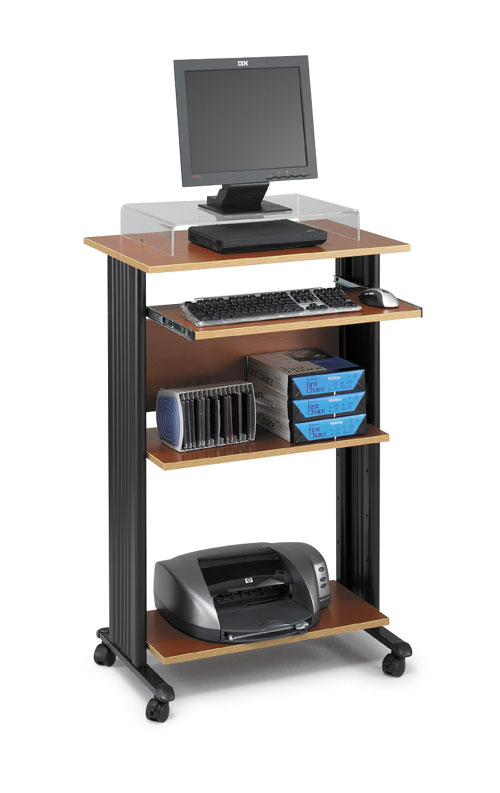 Safco 1923CY MUV Stand-up Workstation Fixed Height in Cherry