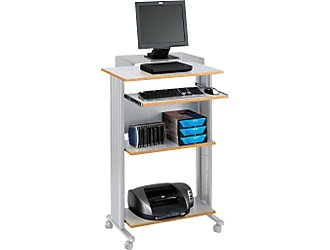 Safco 1923GR MUV Stand-up Workstation Fixed Height in Gray