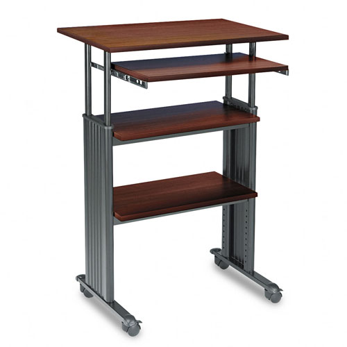 Safco 1929CY MUV Adjustable Height Stand-Up Workstation in Cherry